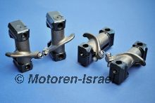 Rocker arms in one piece steel rocker spindle supports (4pc)
