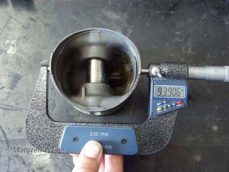 Zylinder, Kolben vermessen, Laufspiel ermitteln 2St.