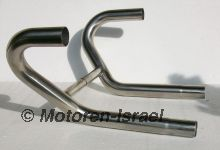 Stainless exhaust pipes single crossover R80/100GS, R80/100R